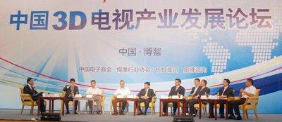 中国3D电视产业发展论坛对话现场
