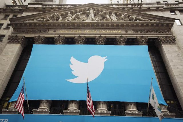 Twitter上市第二日股价下跌7.24%