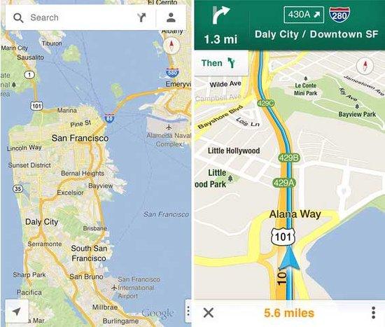 谷歌地图将助谷歌成最大赢家 苹果地图受损