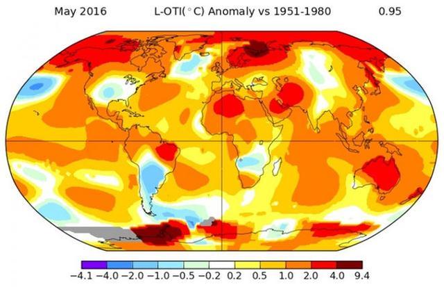 美国宇航局:我们已经度过有史以来最热的五月