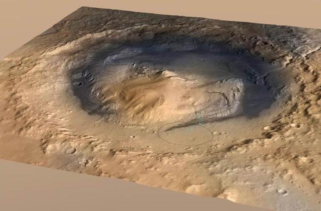 研究称火星神秘土丘曾是充满液体的远古陨坑
