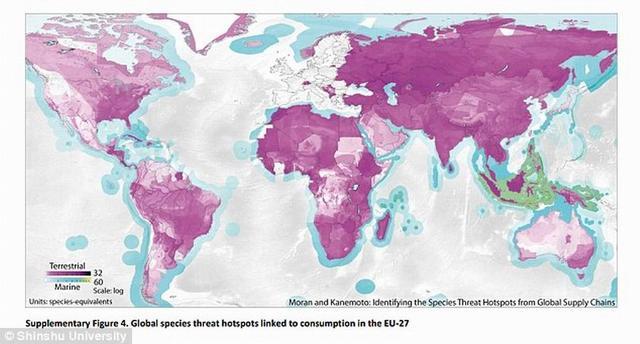 科学家绘制威胁野生动物的全球贸易路线地图