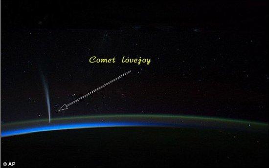 """空间站宇航员捕捉到""""死里逃生""""彗星图像"""