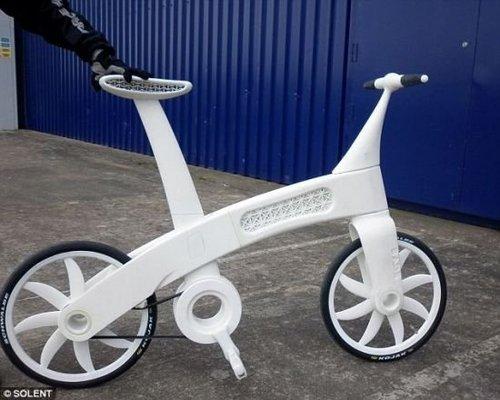 """英科学家借助新技术""""打印""""出自行车(图)"""