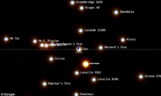 谷歌打造空间地图:用户可浏览近10万颗恒星