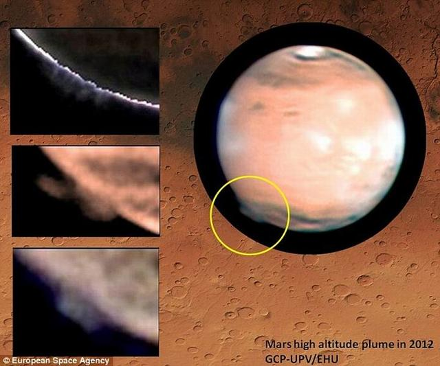 火星上空250公里处发现神秘巨大羽状烟云