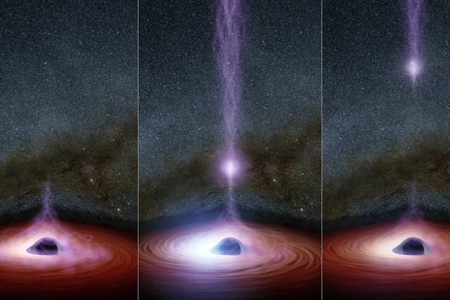 美宇航局发现超大质量黑洞释放X射线喷流