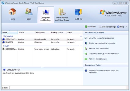 微软正式发布Windows Home Server 2011