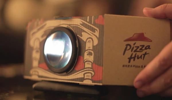 必胜客的新外卖包装盒将手机变成投影仪