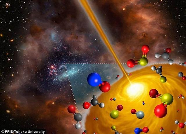 银河系外发现首个包含不同化学物质的气体云