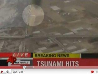 日本地震后惊现UFO 白色不明物横穿而过(图)