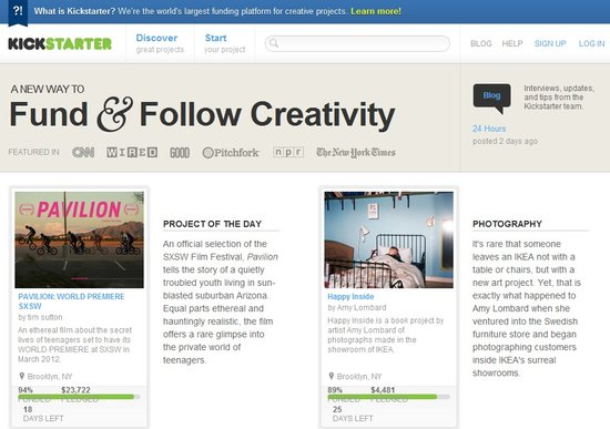 融资平台Kickstarter:50美元最易吸引捐助者