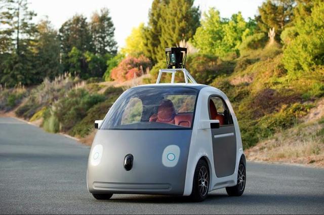 谷歌推出新款无人驾驶车:无方向盘 无刹车