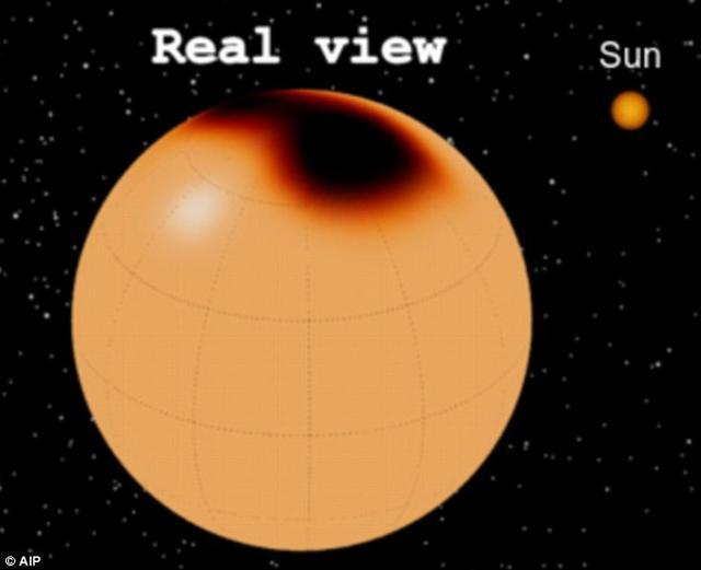 科学家发现1500光年外红巨星上的巨大黑子