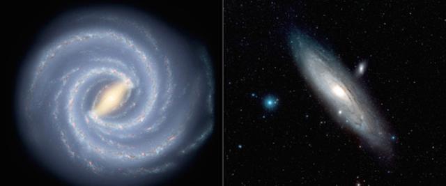 银河系中的物质含量只有仙女星系一半