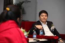 腾讯公司高级执行副总裁李海翔接受媒体采访