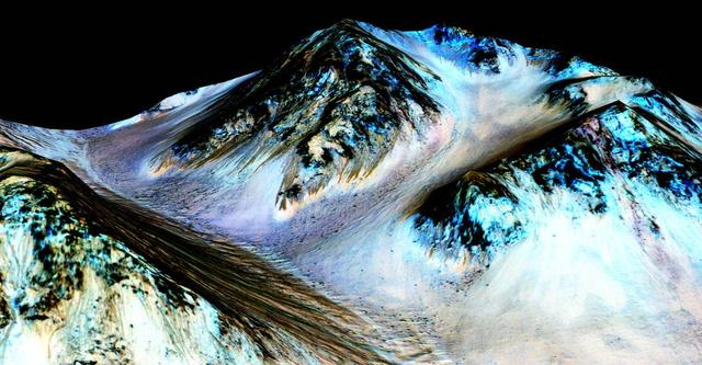 火星表面有液态水存在