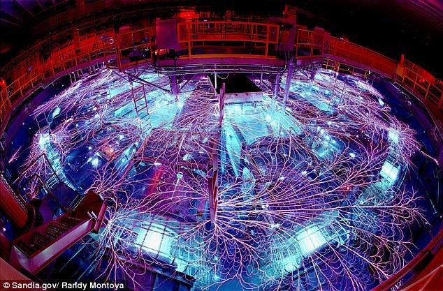 """美国利用强大的""""Z机器""""研究核聚变"""