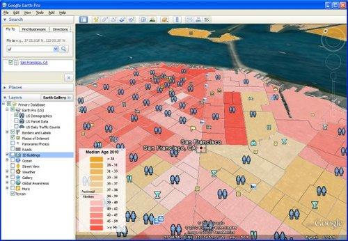 谷歌地球5.2版:提供GPS追踪和海拔数据(图)