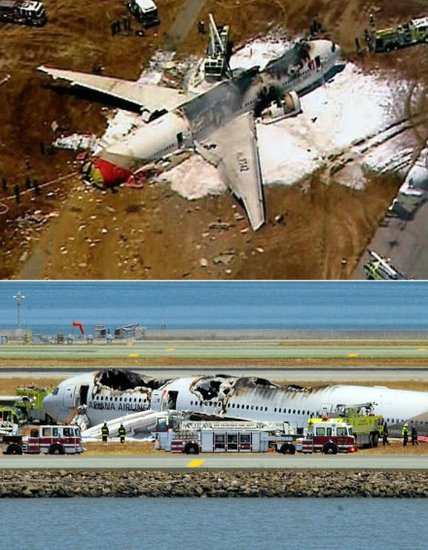 韩亚航空客机失事:初步判断是着陆发生坠落