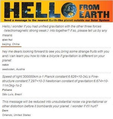 人类进行的主动SETI项目