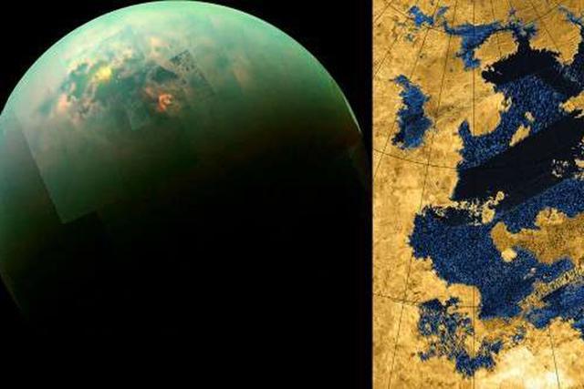 科学家发现土卫六烷烃海洋存在海浪