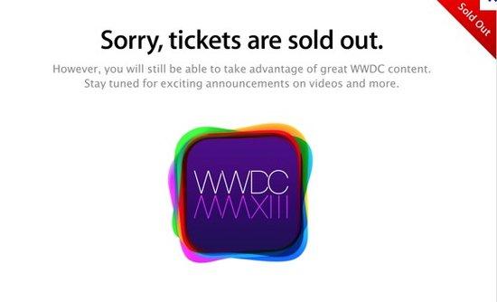 苹果2013全球开发者大会门票两分钟内售罄