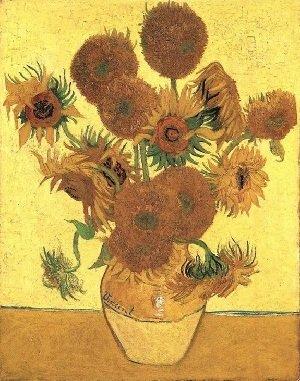梵高作品-梵高画中向日葵并非臆想 或是基因突变产物