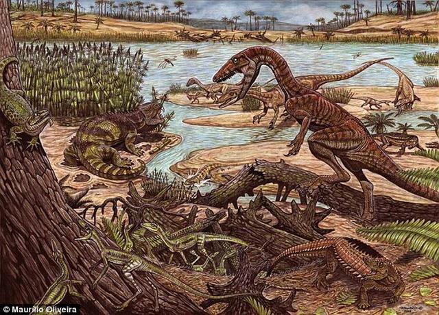 """2.3亿年前早期恐龙崛起""""非常平缓"""""""