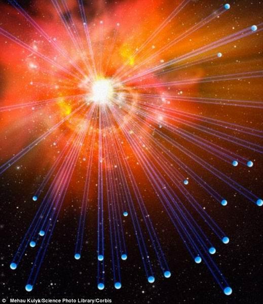 科学家计算机模拟宇宙大爆炸瞬间的状态