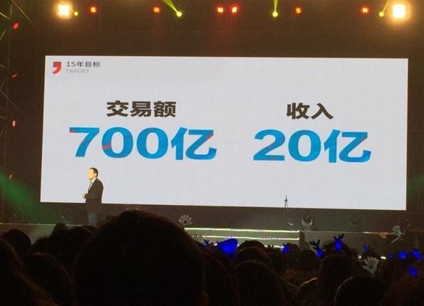 大众点评CEO张涛:2015年目标交易额700亿元