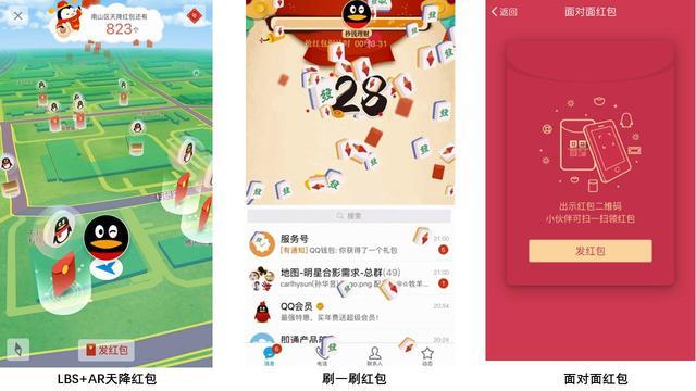 """腾讯QQ公布""""LBS+AR天降红包""""三大玩法 小年夜开始将派发2.5亿现金"""
