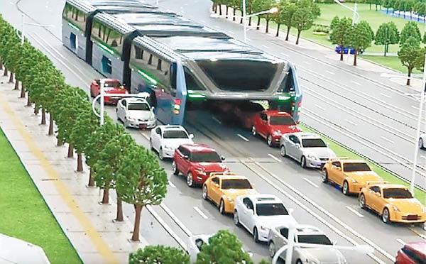 中国多地欲建空中立体巴士 从头顶跨越拥堵