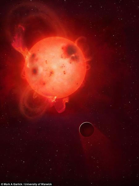 科学家发现遥远系外行星大气被恒星耀斑剥离