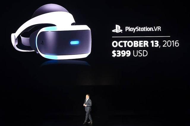 索尼PlayStation VR头盔将于10月13日上市 售价399美元