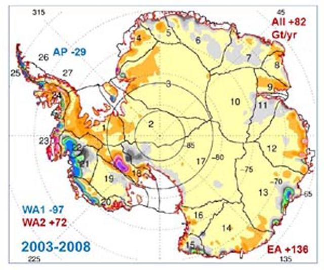NASA发现南极冰盖竟然逐渐增厚