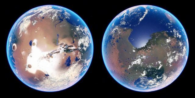 小行星连环撞击或使火星出现短暂海洋