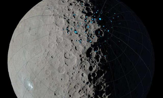 谷神星撞击坑内存在古老的10亿年前的冰块