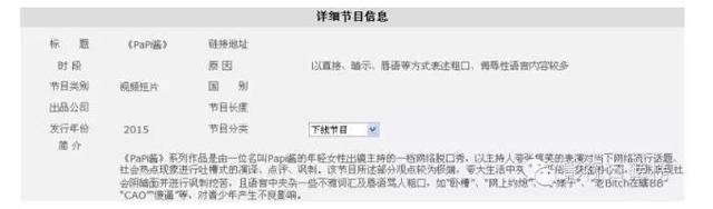 Papi酱遭广电总局封杀 罗振宇1200万恐打水漂