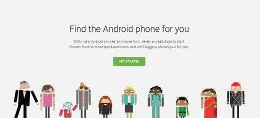 不知道该买哪一款Android手机?谷歌来帮你