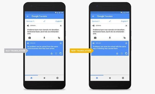 谷歌称人工智能让机器翻译水平大增,进步超过去10年总和