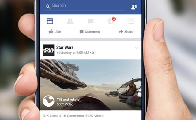 Facebook在信息流中推出360度视频内容