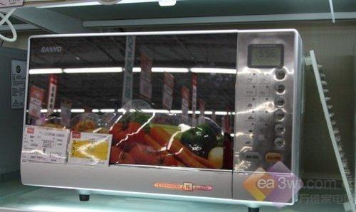 三洋20L蒸汽微波炉售599元 远红外烧烤