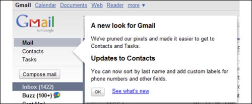 Gmail新界面正式发布:大幅改进联系人功能