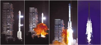 中国成功发射两颗北斗卫星 98%部件系国产