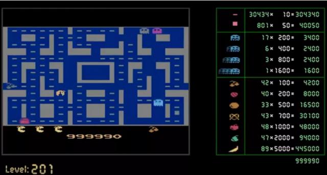 人工智能玩《吃豆人》玩出神一样的分数:999990分
