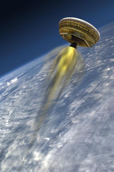 美国宇航局:今年六月再次测试飞碟状减速器