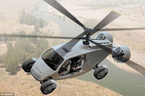 """""""变形金刚""""四驱车问世 60秒内变身直升机"""
