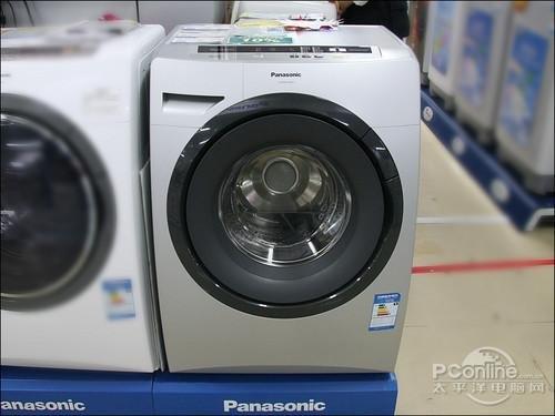 松下这款大视窗系列滚筒式洗衣机xqg60-v64ns,外观上最让人注目的就