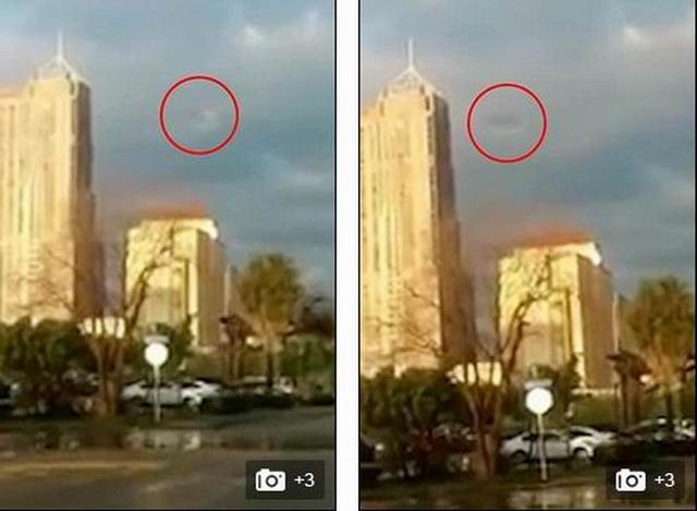 """美国目击者称""""伪装UFO""""隐藏在云层中"""